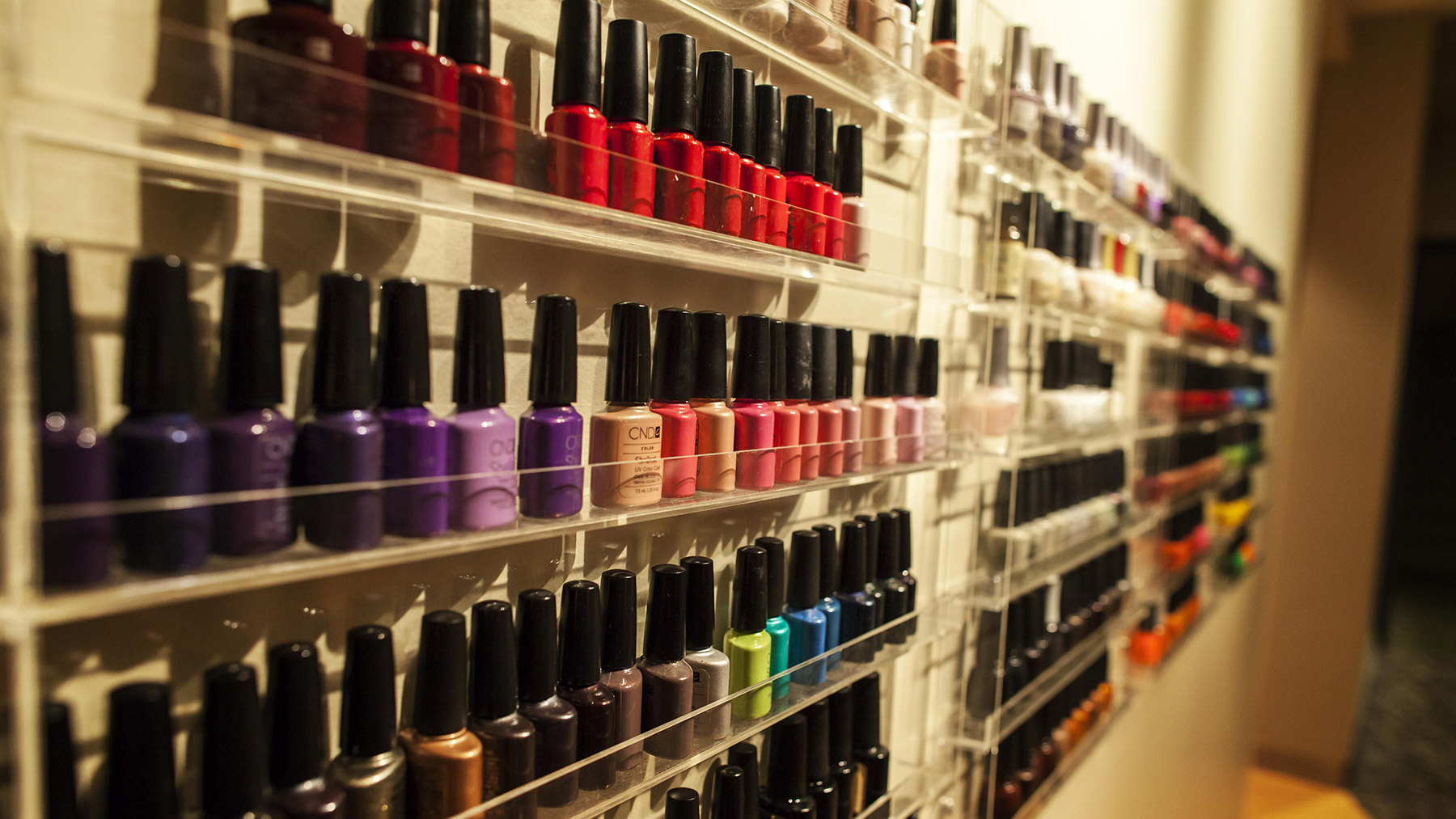 Nail Polishes at Urban Oasis Mineral Spa