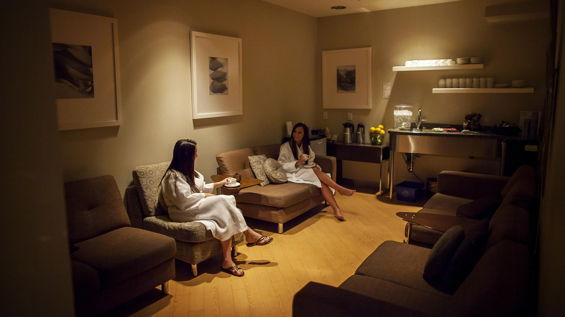Relaxation Room at Urban Oasis Mineral Spa